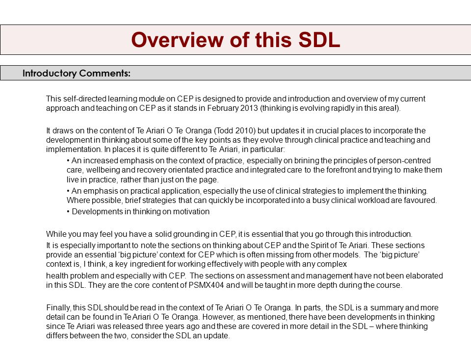 The layout of this SDL includes pictures and diagrams.