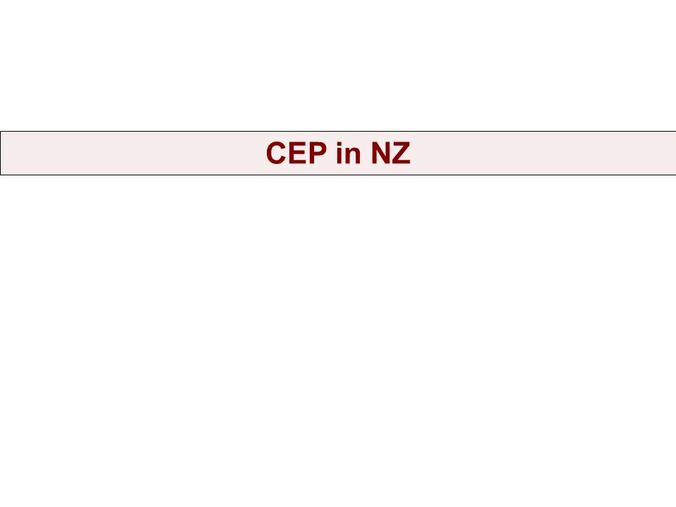 New Zealand has had an interest in CEP for at least the past decade.