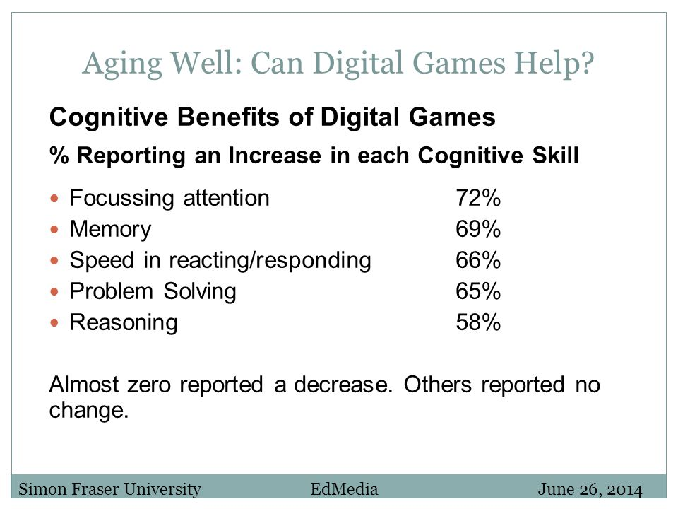 Aging Well: Can Digital Games Help.
