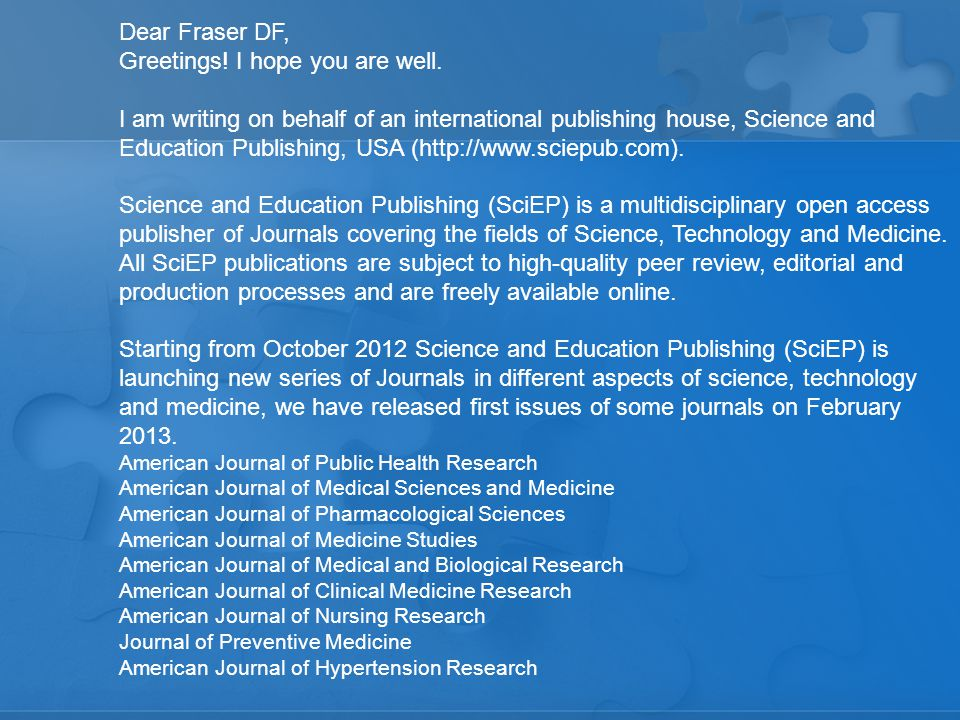 True peer-reviewed, open access journals play an important role in the dissemination of publically funded research Major granting agencies require publication of results in an open-access format On the other hand, 'Scientific & Academic Publishing, USA' lists its address in the middle of a six lane highway…