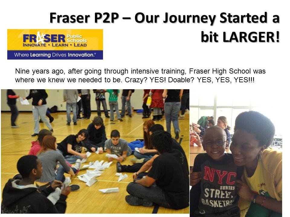 Fraser P2P – Our Journey Started a bit LARGER.