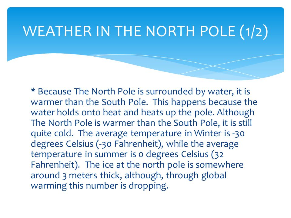 WEATHER IN THE NORTH POLE (2/2)