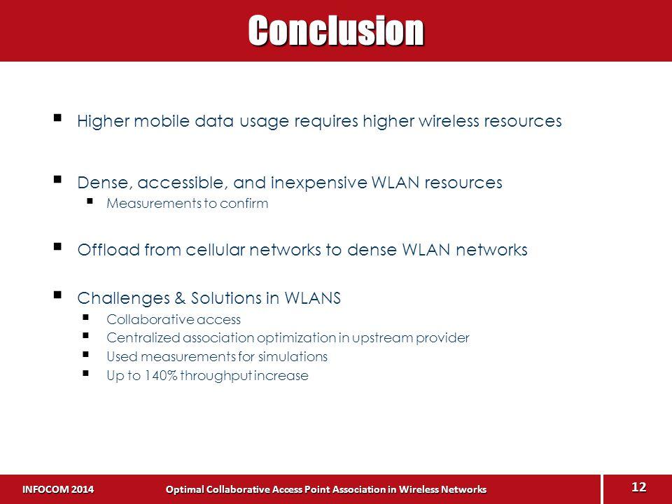 INFOCOM 2014 Optimal Collaborative Access Point Association in Wireless Networks INFOCOM 2014 Optimal Collaborative Access Point Association in Wirele