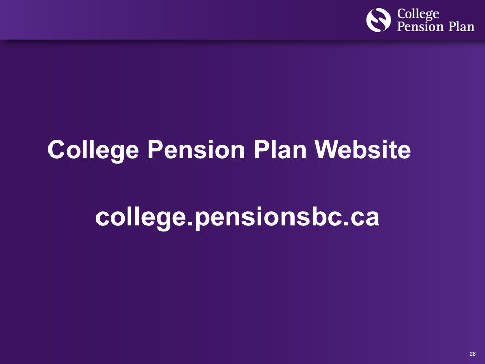 28 College Pension Plan Website college.pensionsbc.ca