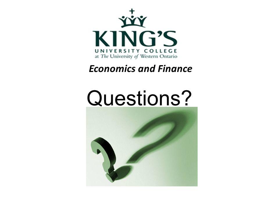 Economics and Finance Questions