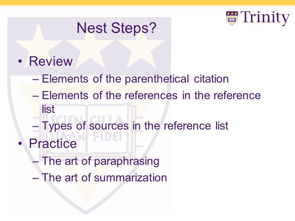 Nest Steps.