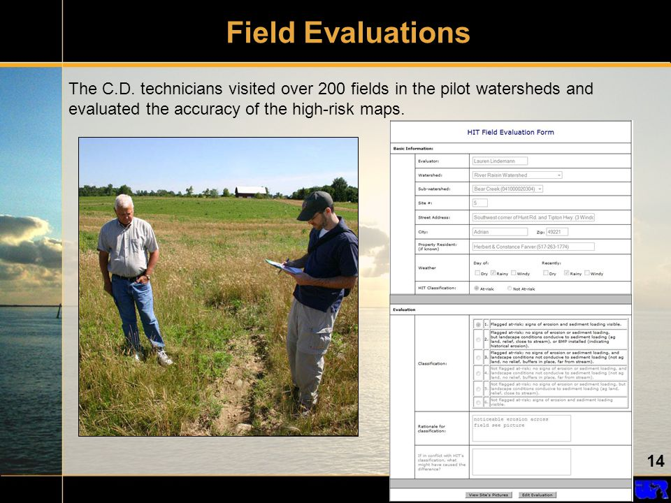 14 Field Evaluations The C.D.