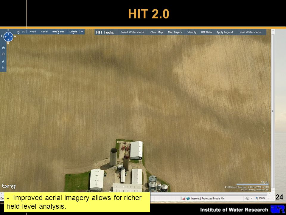 24 - Improved aerial imagery allows for richer field-level analysis. HIT 2.0