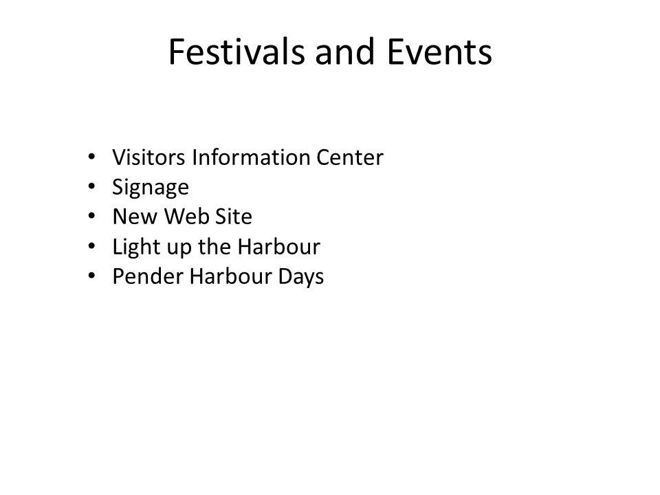 Festivals and Events Visitors Information Center Signage New Web Site Light up the Harbour Pender Harbour Days