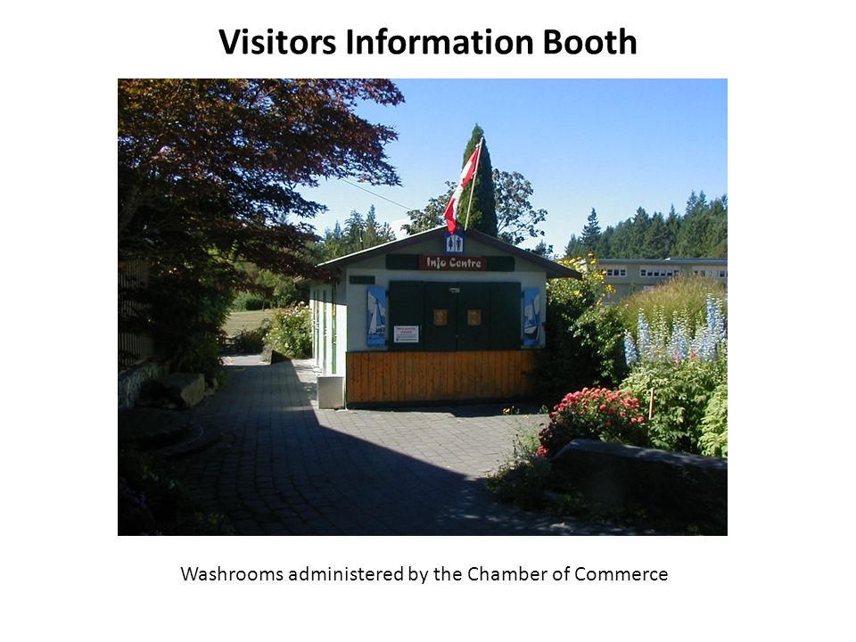 Visitors Information Booth Washrooms administered by the Chamber of Commerce