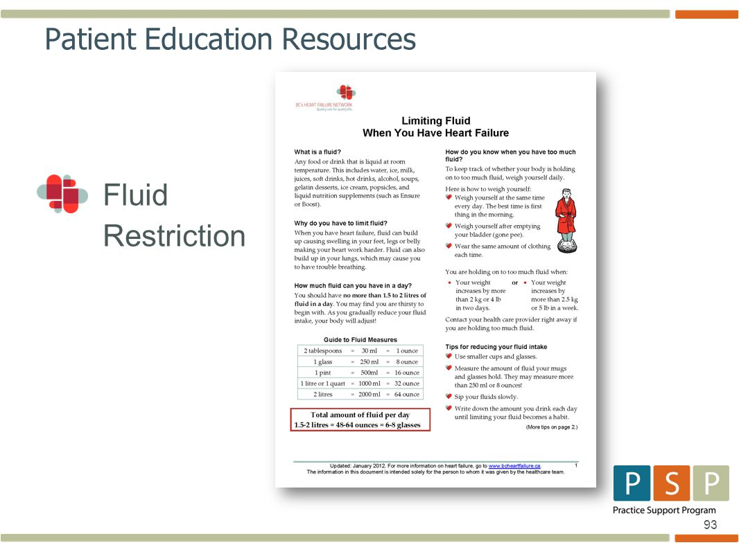 93 Fluid Restriction Patient Education Resources