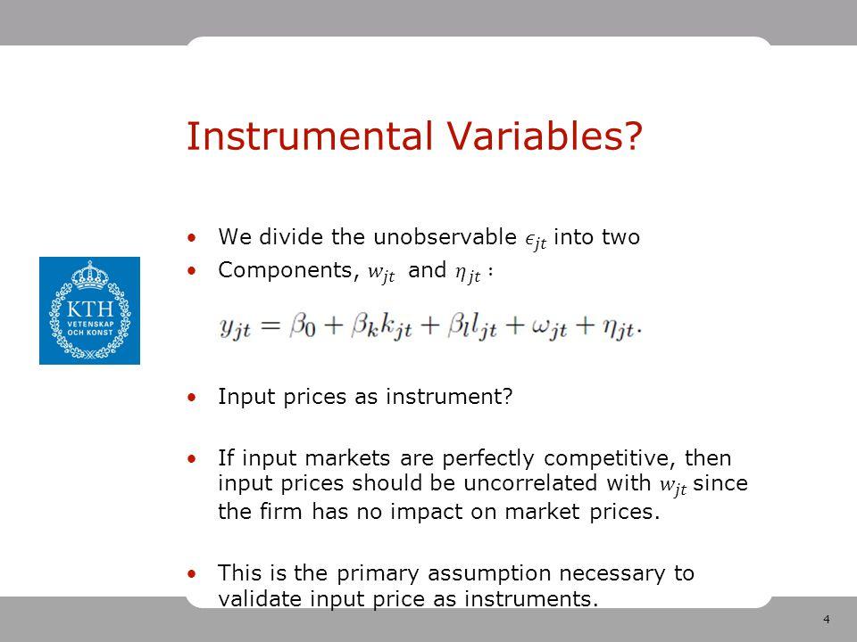4 Instrumental Variables