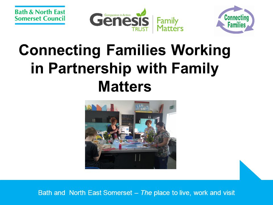 Bath and North East Somerset – The place to live, work and visit Connecting Families Working in Partnership with Family Matters