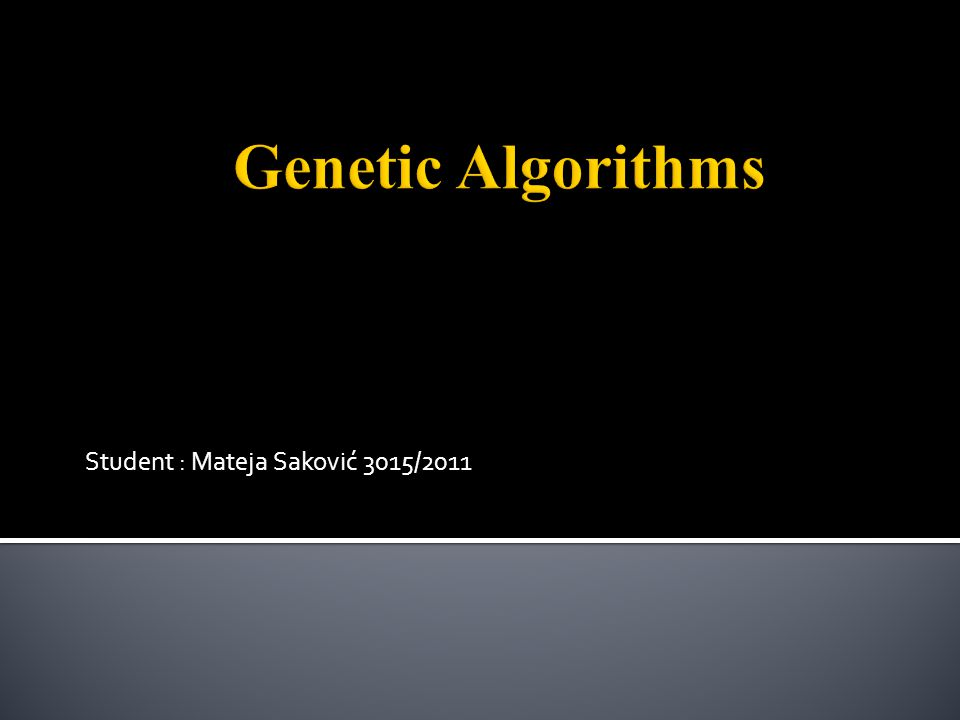  Genetic algorithms are based on evolution and natural selection  Evolution is any change across successive generations in the heritable characteristics of biological populations  Natural selection is the nonrandom process by which biological traits become either more or less common in a population 2/19