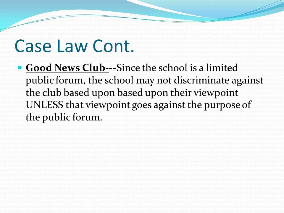 Case Law Cont.