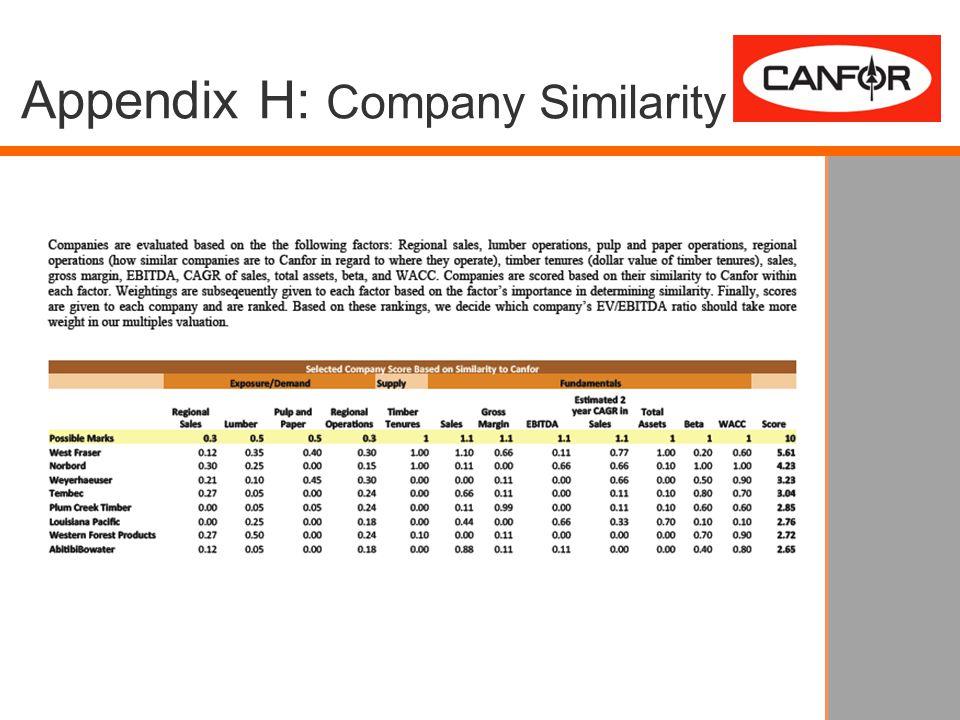 Appendix H: Company Similarity