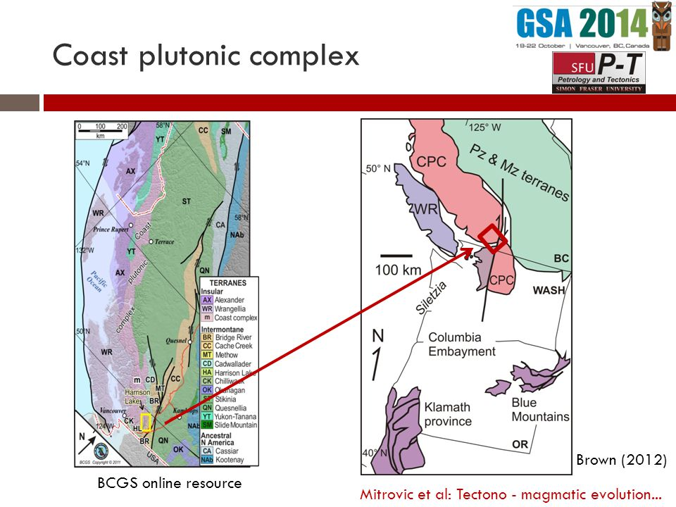 Coast plutonic complex Brown (2012) BCGS online resource Mitrovic et al: Tectono - magmatic evolution...