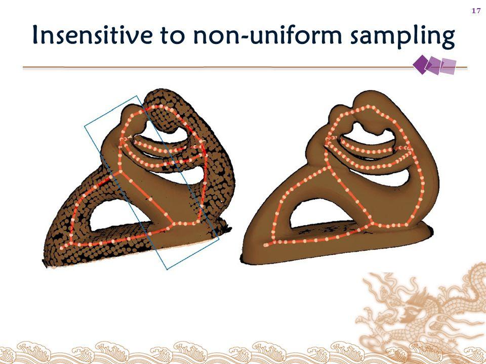 Insensitive to non-uniform sampling 17