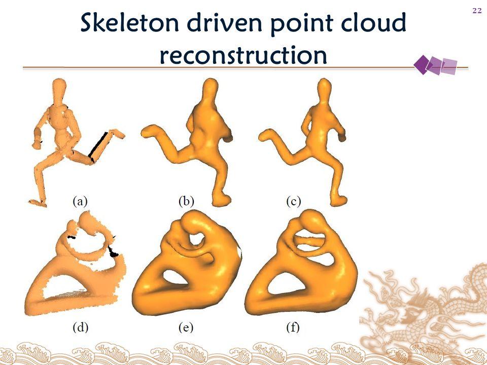 Skeleton driven point cloud reconstruction 22