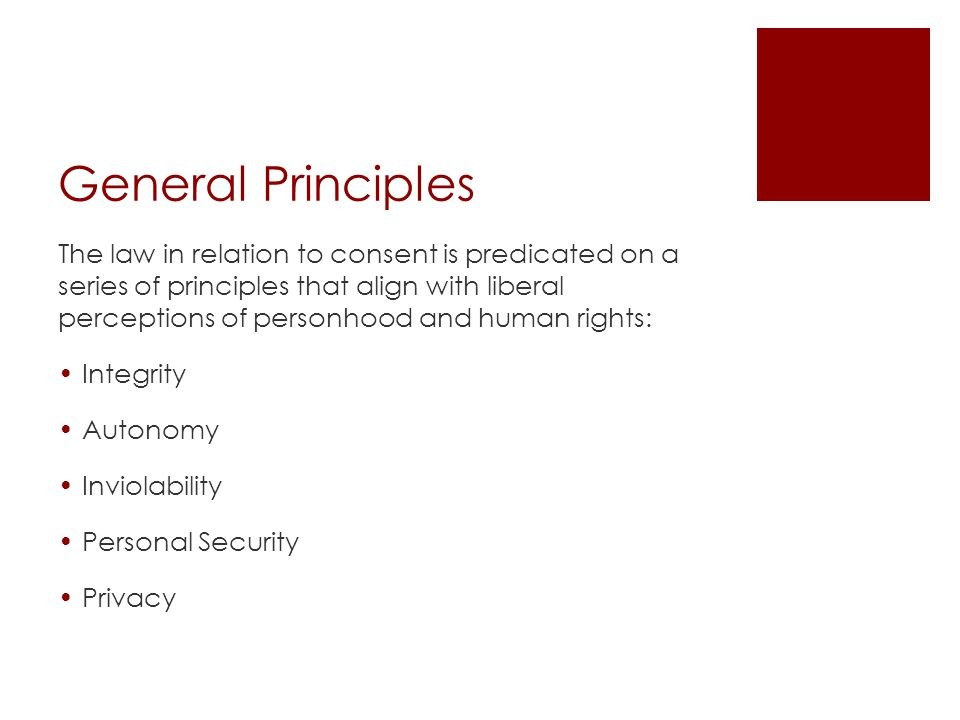General Principles – Quebec Civil Law Charter of Human Rights and Freedoms (art.