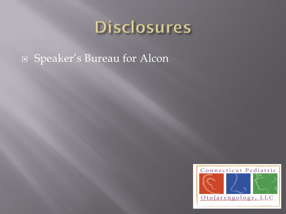  Speaker's Bureau for Alcon