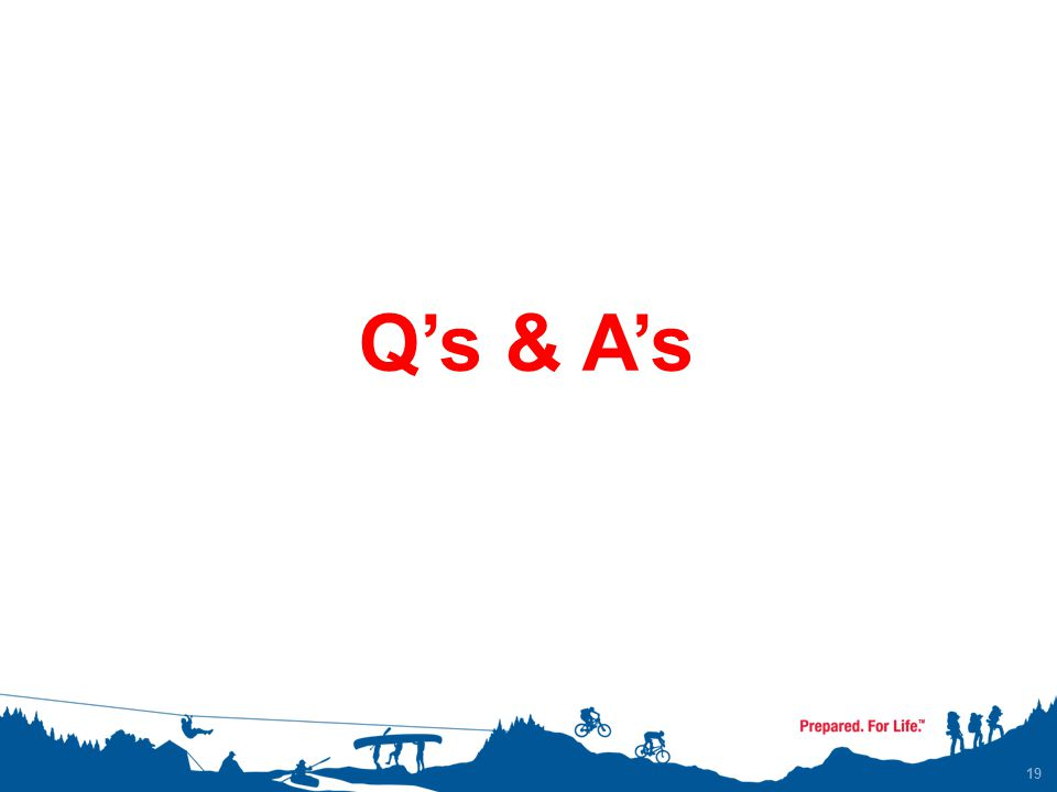 19 Q's & A's