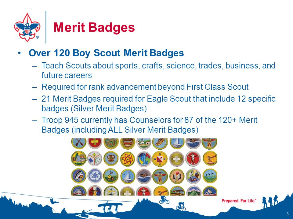 Recognition Court of Honors are held three times per year –Monday nights - Instead of the Troop Meeting that week –Ceremony to celebrate the achievements of the boys Rank Advancement Merit Badges Additional awards or recognition Slide show that documents the Troops activities 9