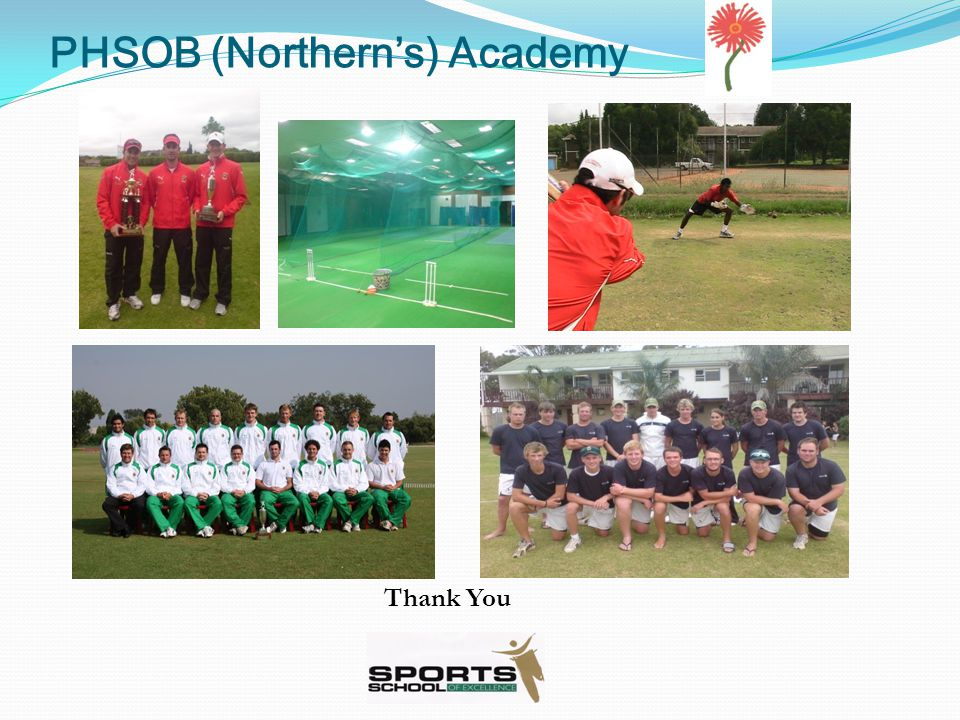 PHSOB (Northern's) Academy Thank You