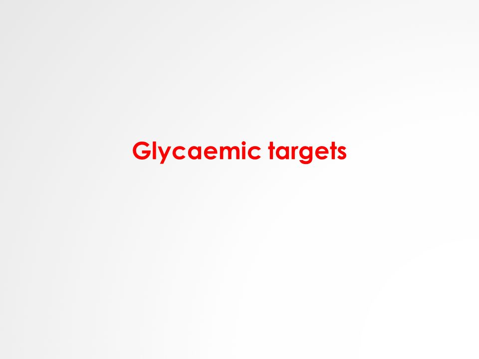 Glycaemic targets