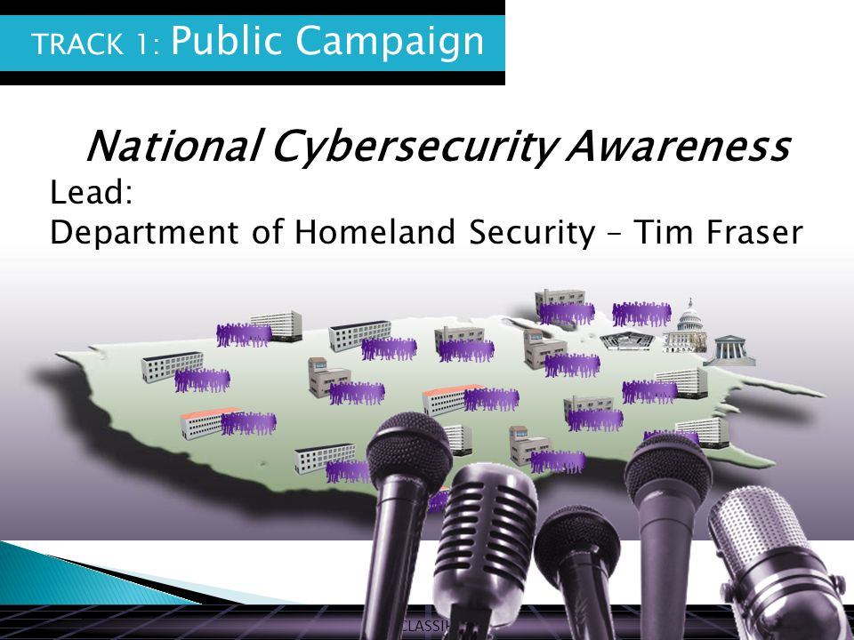 UNCLASSIFIED National Cybersecurity Awareness Lead: Department of Homeland Security – Tim Fraser TRACK 1: Public Campaign