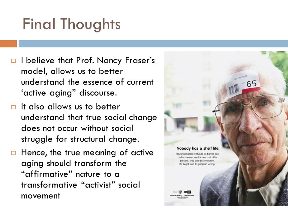 Final Thoughts  I believe that Prof.