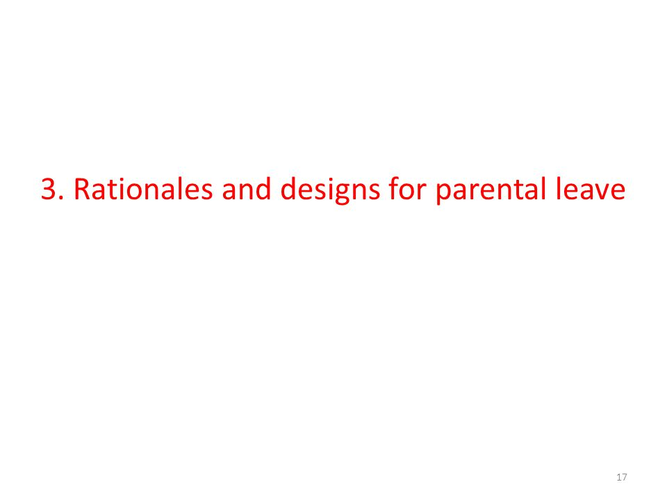3. Rationales and designs for parental leave 17