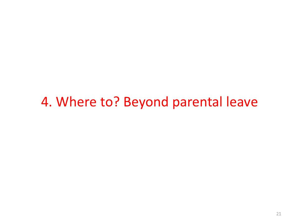 4. Where to? Beyond parental leave 21