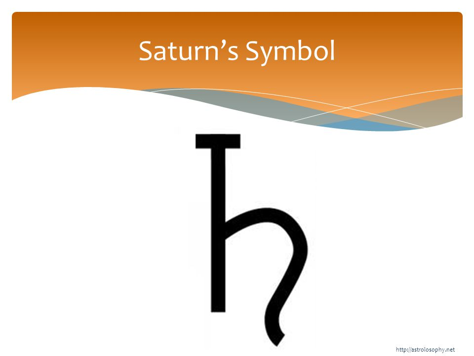Saturn's Symbol http://astrolosophy.net