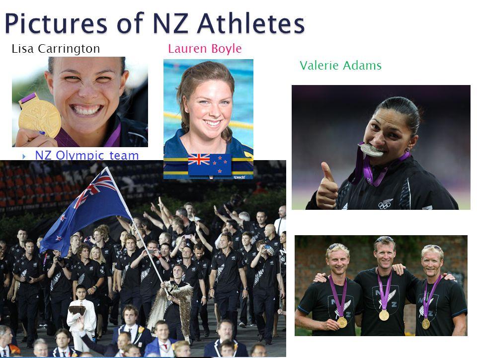  NZ Olympic team Valerie Adams Lisa CarringtonLauren Boyle