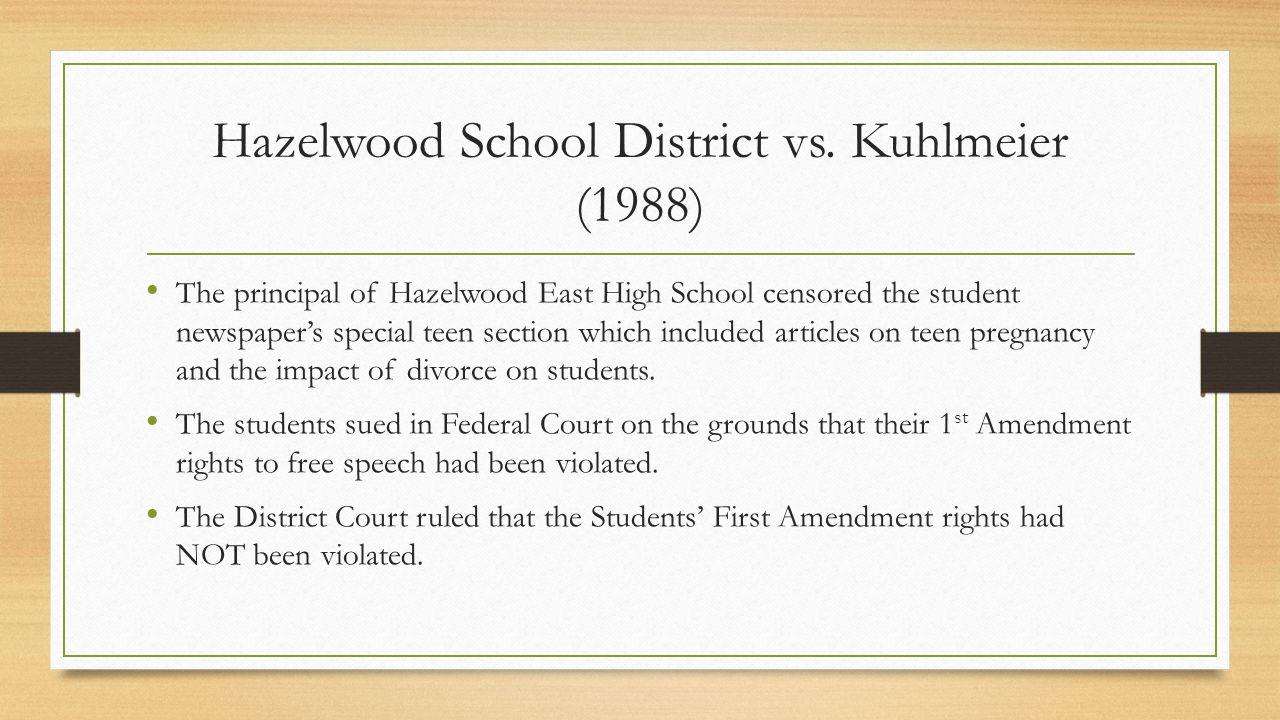 Hazelwood School District vs.