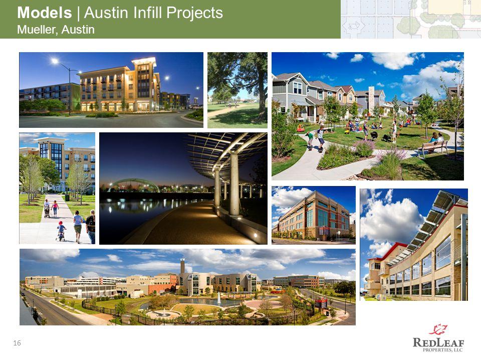 16 Models | Austin Infill Projects Mueller, Austin