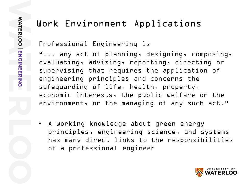 Professional Engineering is ...