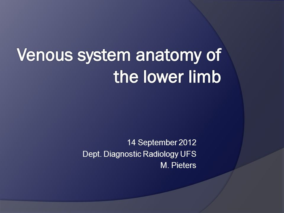 14 September 2012 Dept. Diagnostic Radiology UFS M. Pieters