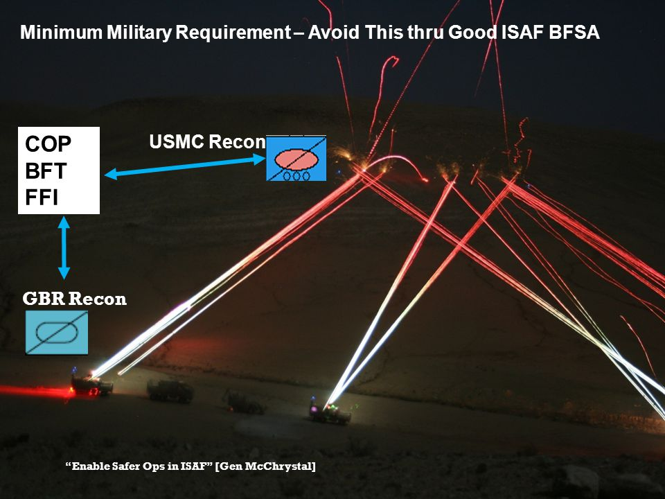 """USMC Recon GBR Recon Minimum Military Requirement – Avoid This thru Good ISAF BFSA """"Enable Safer Ops in ISAF"""" [Gen McChrystal] COP BFT FFI"""