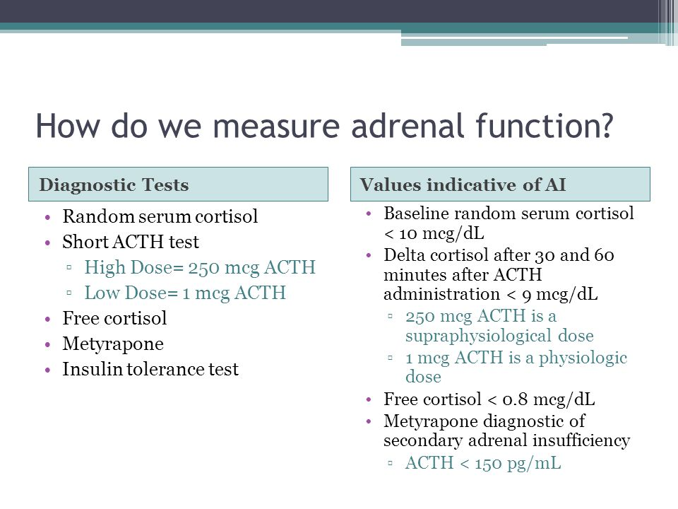 How do we measure adrenal function.