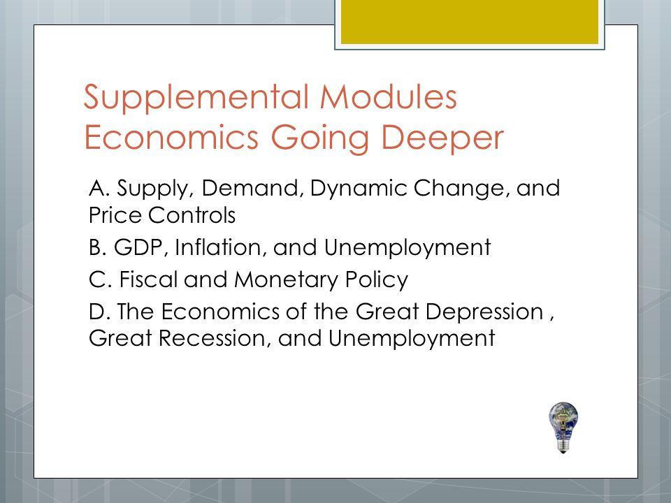 Supplemental Modules Economics Going Deeper A.