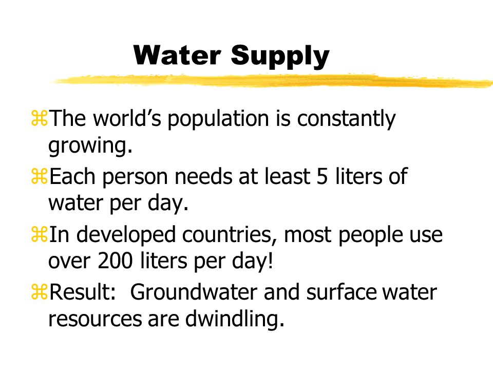 Why are we worried about water supply