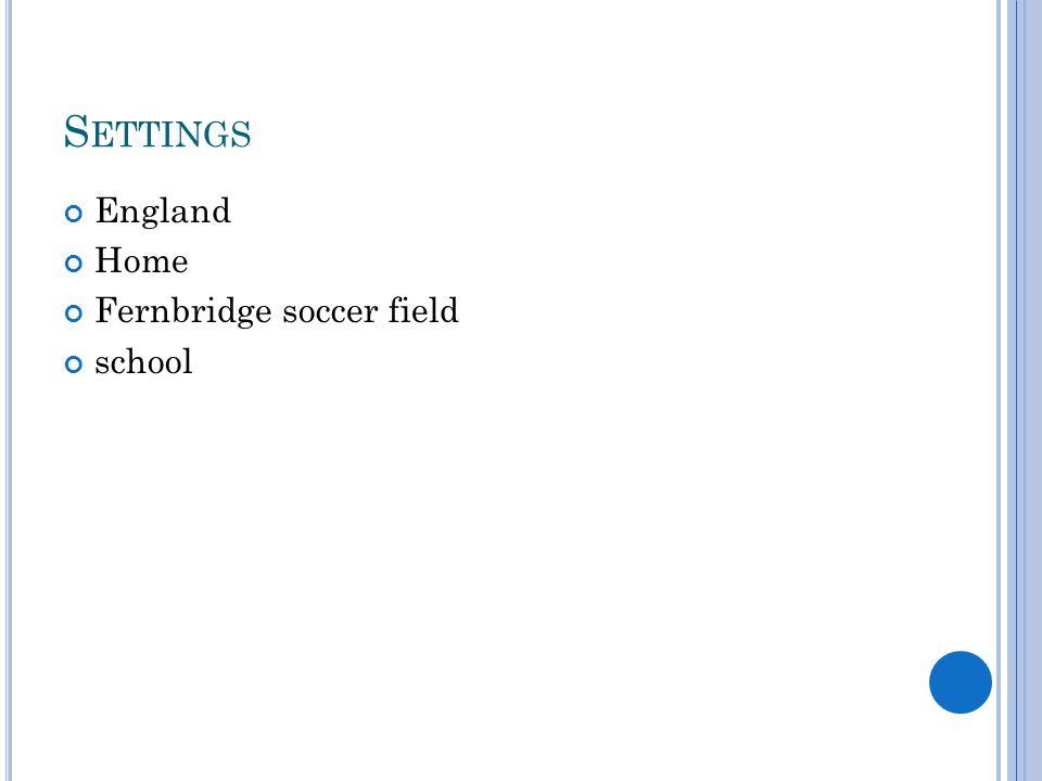 S ETTINGS England Home Fernbridge soccer field school