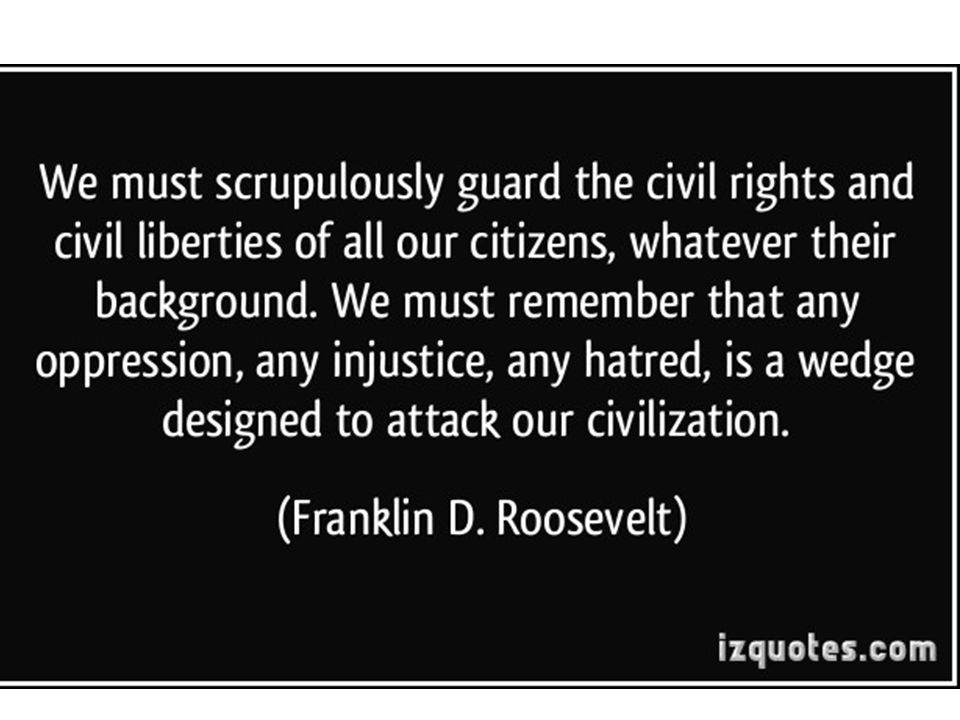 Civil Liberties Individual legal and constitutional protections against the government Enumerated, primarily, in the Bill of Rights (first 10 amendments to the Constitution)
