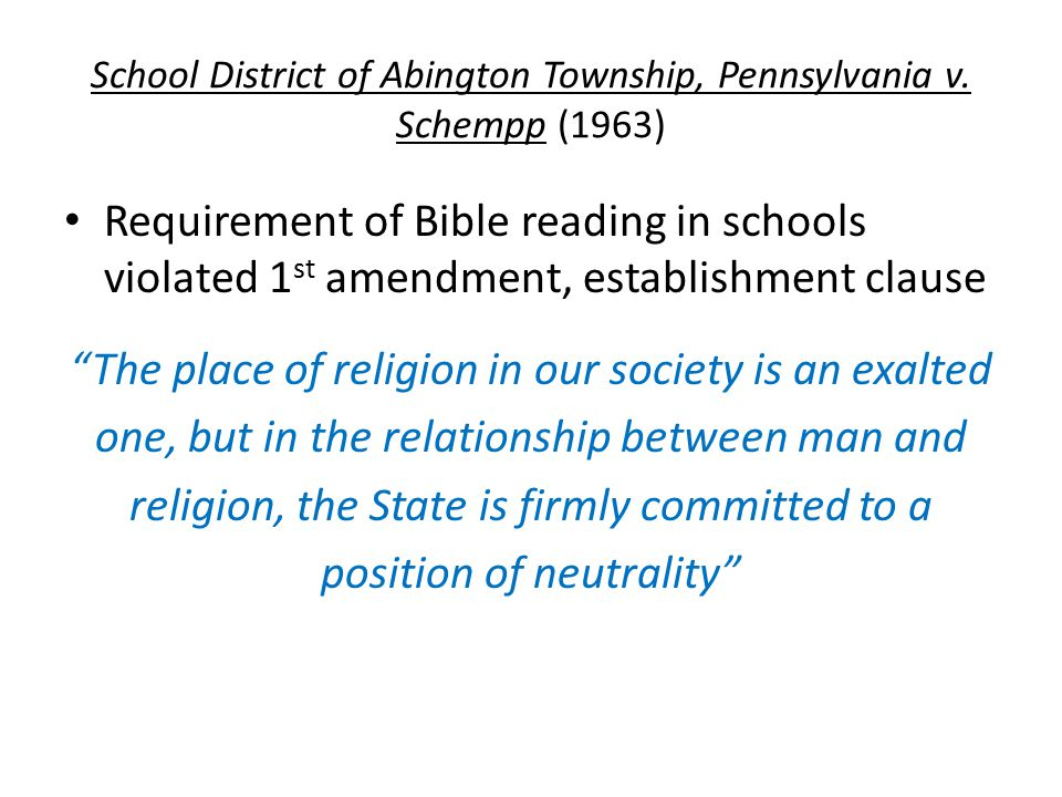 School District of Abington Township, Pennsylvania v.