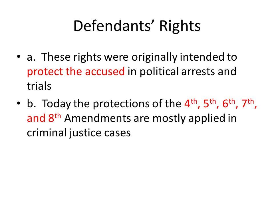 Defendants' Rights a.