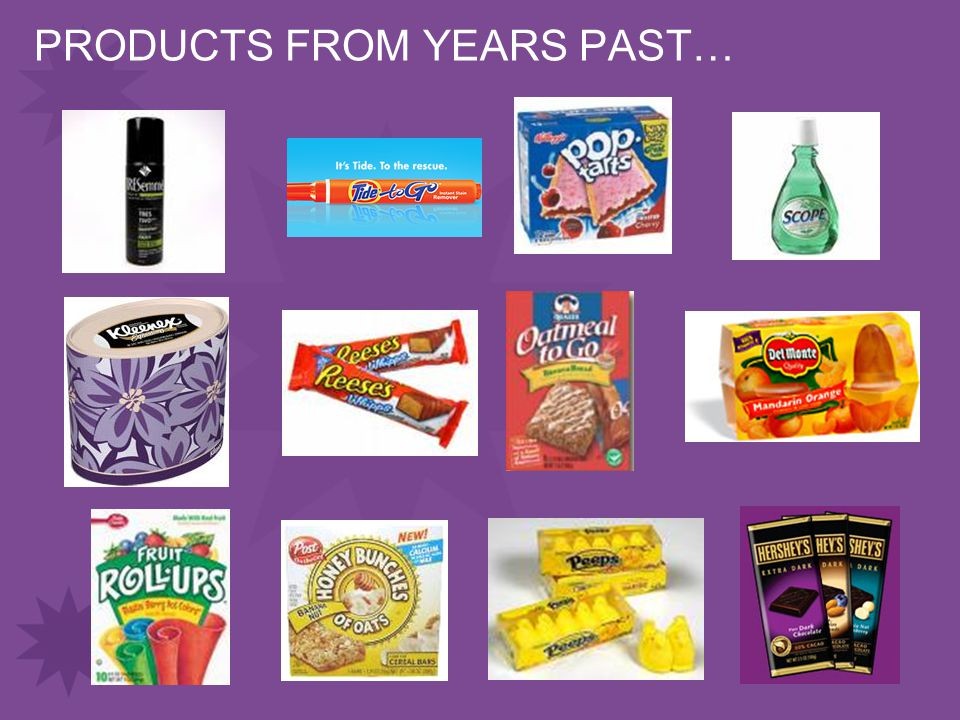 PRODUCTS FROM YEARS PAST…