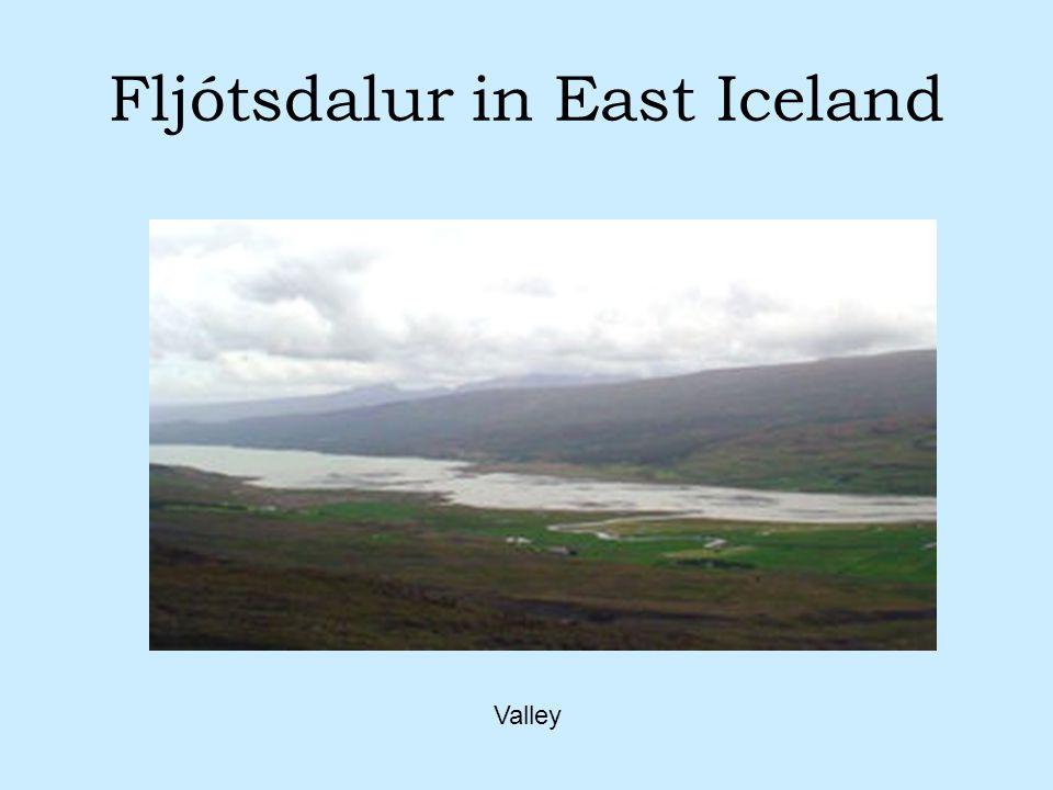 Fljótsdalur in East Iceland Valley