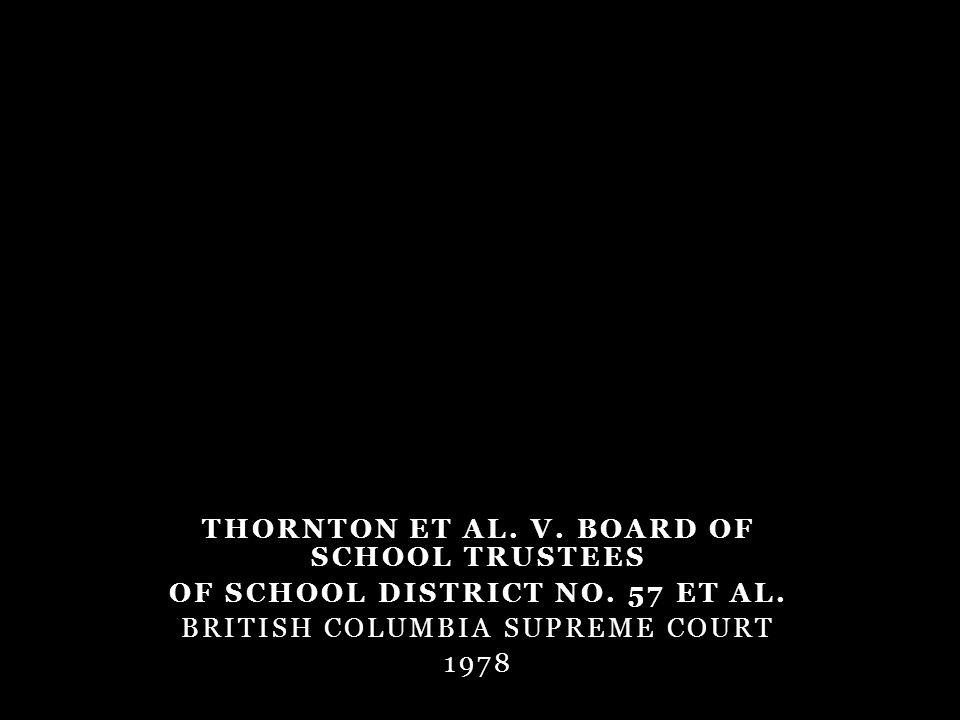 THORNTON ET AL. V. BOARD OF SCHOOL TRUSTEES OF SCHOOL DISTRICT NO.